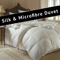 Kensingtons® Luxury 50% Silk 50% Microfiber Filled Duvets Quilt All Seasons Togs
