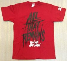 "ALL THAT REMAINS ""For We Are Many RED"" T-Shirt NEW"