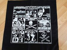 Jonee Earthquake Band BLACK BANDANA NEW Punk Surf Rockabilly Garage Boston PROMO