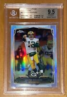 💎Aaron Rodgers 2014 TOPPS CHROME SILVER REFRACTOR #83 BGS 9.5, 10 sub PSA prizm