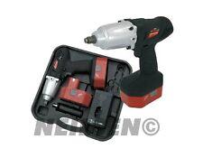 Heavy duty 24 Volt cordless impact wrench Torque 420 NM + 10 Piece impact sockes