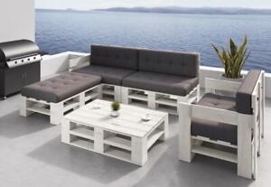 Palettenmöbel Gartenmöbel Set aus Holz Indoor Outdoor Europaletten Farbauswahl