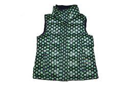 Girl Gap Kids Navy Blue Green Polka Dot Puffer Vest Jacket Coat Size S 6/7