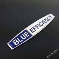 Car Aluminum BLUE EFFICIENCY Emblem Badge Fender Side Sticker Auto Decal