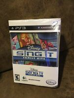 Disney Sing It Family Hits with Logitech Microphone for Playstation 3 PS3 New!