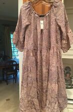 NEW Anthropologie NAT by Natalie Martin Silk Dress Bell Sleeves Size Large $268