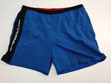 Vintage SPEEDO Mens Swim Trunk Surf Shorts Lined Blue Black Retro Size XL
