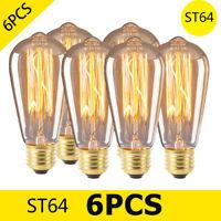 E27 40W Rétro Vintage Edison Ampoule Tungstène Lampe Incandescente Filament 220V