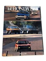 1984 Honda Line Sales Brochure Catalog - Accord Civic CRX Prelude