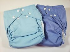 2 Fuzzi Bunz Cloth Diapers Perfect Size w Inserts L 25-45+ lbs Blue Purple Nwot
