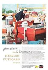 Vintage 1959 ad Mercury Outboard Motors Grandfather and Grandson Fishing