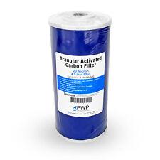 """Single 4.5X10"""" Granular Activated Carbon GAC Filter Cartridge 20 Micron"""