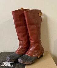 STUNNING CINNAMON  SOREL SLIMPACK LEATHER Rain/snow RIDING Boot WATERPROOF 9.5