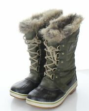 V8 Sorel Joan of Arctic Major/Dark Stone Suede/Leather Lace Up Boot Women Sz 2 M