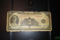 1935 $2 Dollar Bank of Canada Banknote A4567280