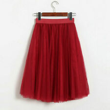 Women Tutu Tulle Skirts Long Prom Party Mesh Petticoat Dress Beach Skirt Costume