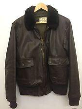 Vintage USN US Navy Leather G-1 Bomber / Flight Jacket 44 1976 Imperial Leather
