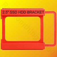 """2.5"""" SSD HDD Adapter Mounting Tray Bracket Plastic Caddy for 3.5"""" PC Case Bay"""