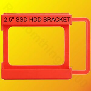 """2.5"""" to 3.5"""" Bay SSD HDD Plastic Hard Drive Mounting Bracket Adapter Tray Red"""