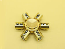 Newest Brass Hand Spinner Fidget Ceramic Desk Focus Toy EDC For Kids/Adults