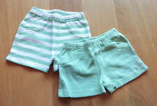 2 Pack of Green Shorts - Size: 0-3 Months