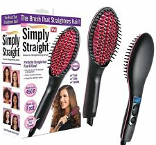 Fast Heat Straight Ceramic LCD Hair Straightener Brush As Seen On TV 2016