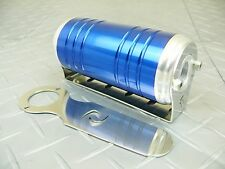 Blue -8 AN/ORB 40 Micron Stainless Steel Element Aluminum S-Max Fuel Filter
