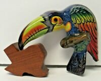 Traditional Mexican Pottery Talavera Pottery Blue Toucan Parrot Wall Art
