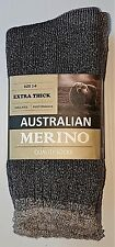 6 PRS LADIES SZ 2-8 GREY AUSTRALIAN MERINO THERMAL WORK SOCKS