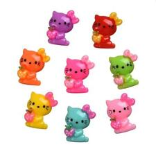 Lot 10 PERLE HELLO KITTY CHARMS EMBELLISSEMENT SCRAPBOOKING DECORATION cabochon