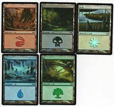 MTG Japanese Foil MPS Land Set 2009 Zendikar Series SP