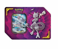 Pokemon TCG Power Partnership Tin Mewtwo & Mew GX 4 Booster Packs Sealed