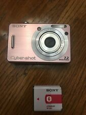 Sony Cyber-shot DSC-W55 7.2MP Digital Camera - Silver INCLUDES 1 GB Memory Card