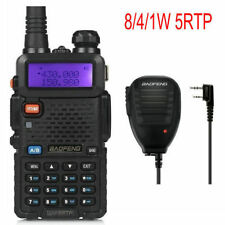DE BaoFeng UV-5RTP + MICRÓFONO Tri-Power 1/4/8W Radio Transceptor Walkie Talkies