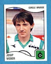 FOOTBALL 90 BELGIO Panini - Figurina-Sticker n. 91 - WEBER - C. BRUGGE -New