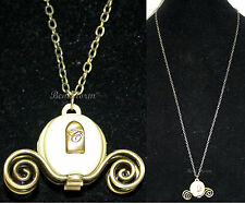 NEW Disney Princess CINDERELLA Carriage Coach Pendant Necklace Costume Jewelry