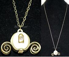 NEW Disney Princess CINDERELLA Carriage Coach Pendant Necklace Costume Jewelry
