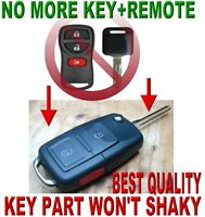 EURO FLIP CHIP KEY REMOTE FOR NISSAN CAR ALARM RFID FOB CLICKER TRANSMITTER 3WD1