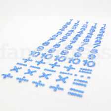 Numéro de BLEU ROYAL Bijou Strass autocollants fabrication carte artisanat scrapbooking