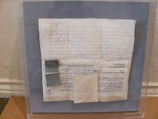 1776 Old Antique English Land Deed Document In Display Case