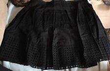 Gap Womens 14 Black Eyelit Cotton Lined Skirt