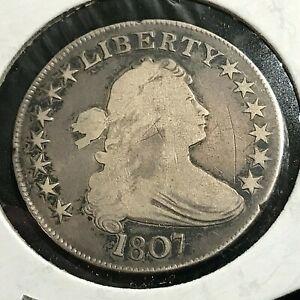 1807 DRAPED BUST SILVER HALF DOLLAR RARE COIN