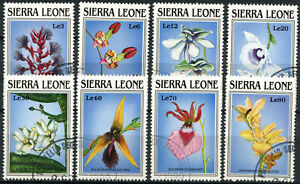 Sierra Leone 1989 SG#1303-1310 Orchids Flowers Cto Used Set #E4619