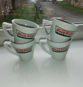 Set of 4 Official Krispy Kreme Espresso Shot Coffee Cups Ex Shop Stock