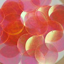 "Orange Crystal Rainbow Iridescent Sequins Round 1.5"" Large Couture Paillettes"