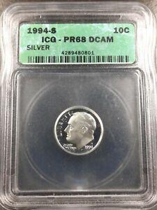 1994-S 10c Proof Silver Dime ICG PR68 DCAM
