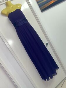 Model Chic Size L Shimmering Deep Purple Dress Strapless Ball Gown BNWT #G95