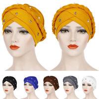 Hair Loss Head Wrap Head Scarf Braid Cancer Chemo Hat Muslim Women Turban Cap