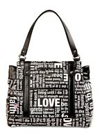 MICHE* Handbag HOPE BLACK White+Pink Ribbon SHELL ONLY Purse PRIMA Faux Leather