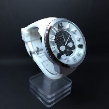 Vive Xxl  Uhr Armbanduhr Totenkopf Weiß Neu Top Silikon